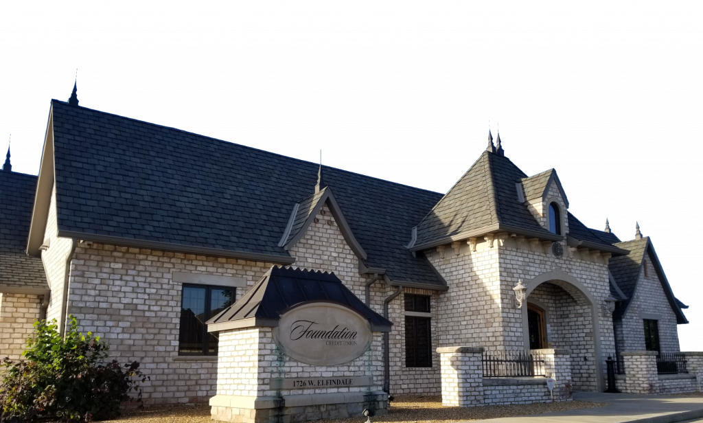 Vector image of foundation credit union branch